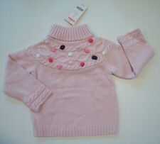 NWT Gymboree Sweeter Than Chocolate 4 4T Pink Pom Pom Turtleneck Sweater