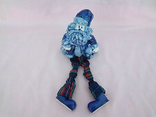 Figurine Rare Santa Claus Delft Christmas Porcelain Pottery Plaid Pants Boot