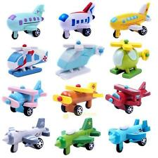 Multi-pattern Creative Toys Mini Wooden Airplane Kids Baby Educational Xmas Gift