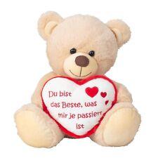 Bär mit Herz Du bist das Beste Teddy 30 cm Kuscheltier Liebe Teddybär Plüschtier