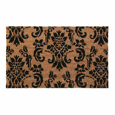 New Damask Anti Slip Entrance Floor PVC Doormats Natural Coir Front Door Mats