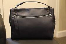 Bally Bloom Hobo Blue Leather Grain Handbag Purse Shoulder Bag Medium Beautiful
