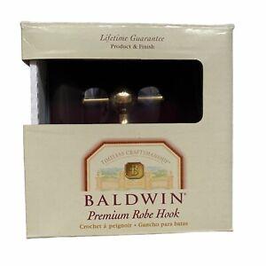 BALDWIN Edgewater Polished Brass Premium Robe Hook 3505-030