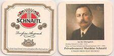 """Schnaitl Bier, Gundertshausen - Bierdeckel """"Ahnengalerie: Mathias Schnaitl"""""""
