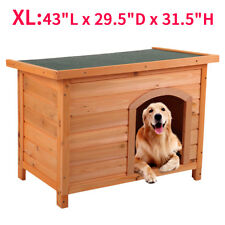 Dog House For Large Dogs Kennel Wood Extra Large Outdoor All Weather XL Pet Gate