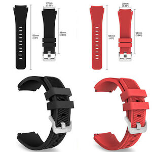 22mm Silicone Bracelet Strap Watch Band For Samsung Gear S3 Frontier