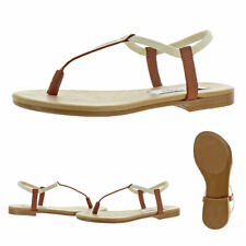 Steve Madden Women's Synergy Leather Thong T-Strap Sandals