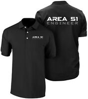 Area 51 polo shirt, Engineer polo, UFO, CIA, Conspiracy, Space, NASA, Alien, FBI