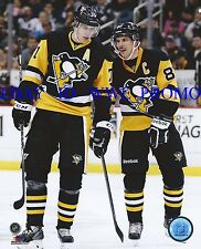Evgeni Malkin SIDNEY CROSBY PITTSBURGH PENGUINS NHL LICENSED 8x10 HOCKEY PHOTO