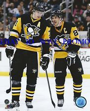 Evgeni Malkin SIDNEY CROSBY PITTSBURGH PENGUINS NHL LICENSED 8x10 HOCKEY PHOTO