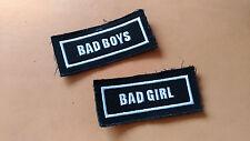 Patch Bad Boy o Bad Girl Patches Toppa ricamata Biker Zavorrina Gilet Jacket
