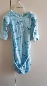 PureBaby Pure Baby boys sz 0000 Organic Cotton Newborn sleepsuit pouch