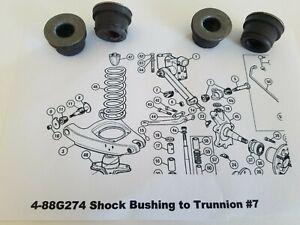 MG Midget & Austin Healey Sprite 948-1098-1275-1500 Shock to Trunnion Bushings