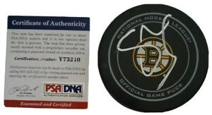 UNKNOWN SIG? SIGNED NHL OFFICIAL GAME PUCK BOSTON BRUINS PSA/DNA COA PLEASE READ