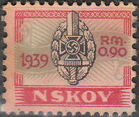Stamp Germany Revenue WWII 3rd Reich War NSKOV Labor Front 1939 Used