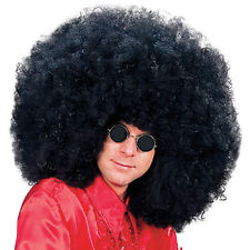 Super Giant Black Curly Afro Jimmy Hendrix 1970s Rock Star Fancy Dress Wig New