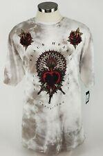 Affliction Black Label Mens Short Sleeve Crew Neck Beige T-Shirt Size 3XL
