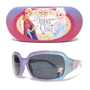 Disney Princess Frozen Anna & Elsa Sunglasses and Case Set 100% UV protection