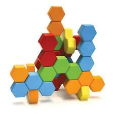 Fat Brain Toy Co HexActly - Wooden Hexagonal Building Blocks - Ages 3+ Years