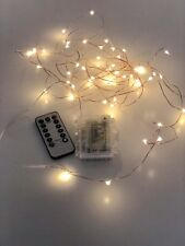 5M Copper Wire 50 LED String Lights with timer 3xAA Battery Operated Light