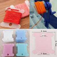 100pcs Plastic Thread Bobbins Embroidery Floss&Craft for Storage Holder Stitch