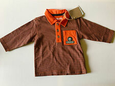 BNWT Timberland Baby 100% Organic Cotton Long Sleeve Polo Rugby Top 6 months