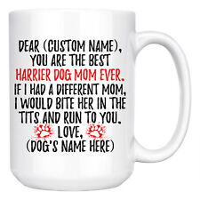 Personalized Harrier Dog Mom Mommy Coffee Mug, Harrier Dog Owner Women Gifts