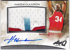 2015 LEAF Q GAME JERSEY PATCH AUTO: HAKEEM OLAJUWON - ON CARD AUTOGRAPH ROCKETS