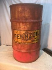 VINTAGE PENNZOIL  OIL GREASE DRUM BARREL CAN.16 Gallon