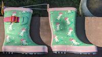 Sun Squad-Target Toddler Girls Rain Boots Size Medium (7/8) Unicorns