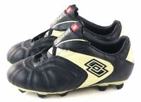 Lotto Youth Lega Calcio Jr Soccer Cleat Black & Cream Little Kid Size 2.5 US