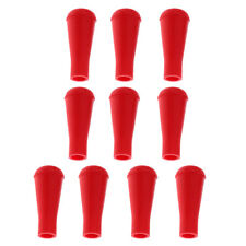 10pcs Soft Rubber Archery Arrowheads Practice Safety Arrow Heads Red 8mm