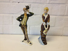 Vintage Pair of Guido Cacciapuoti S. Righetto Ceramic Man & Woman Figurines