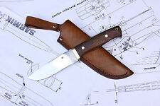 Jagdmesser + Lederhülle / Hunting knife + sheath, Handarbeit; Custom made knife