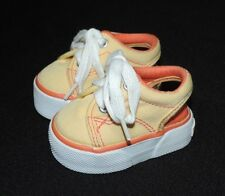 The Children's Place Baby Girl Open Back Canvas Shoes Yellow/Orange Size 1 EUC!
