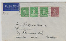 Stamps Australia 1&1/2d green KGV1 definitive uprated on FDC, Ipswich SCARCE