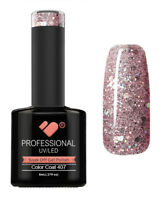 407 VB™ Line Grey Pink Silver Glitter - UV/LED soak off gel nail polish