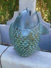 statue d un gros poisson en bronze jet d eau , superbe ! nouveau ...