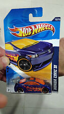 Hot Wheels 1:64 Blue Honda Civic SI with Black / Gold Trim Rims