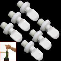 6 Pcs Vacuum Sealed Plastic Beer Soda Wine Storage Bottle Cap Stopper White New