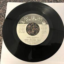 BOBBY WILLIAMS  - Funky Superfly 45 RPM Single  RARE REW Label Press - VG