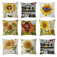 Morden Cotton Linen Square Home Decor Throw Pillow Case Sofa Waist Cushion Cover