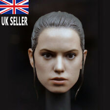1/6 scale Female Head Carving PVC Rey Head Model With Braid For Collection