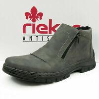 Rieker Stiefel Boots Schuhe mit Lammwollfutter grau Gr.40-46 12271-46 Neu31