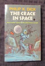1966 THE CRACK IN SPACE by Philip K Dick 1st ACE F-377 Paperback VF+