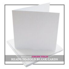 White Blank Greetings Cards - A5 / A6 / DL / Square FREE UK P&P
