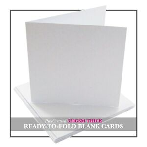 White Blank Greetings Cards - A5 / A6 / DL / Square