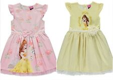 Girls Dress Disney Princess Belle Beauty and the Beast Party Yellow or Pink New