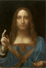 TOILE TABLEAUX   Salvator Mundi (Léonard de Vinci)  50X70 CM