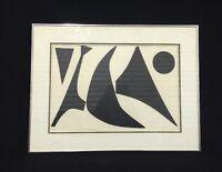 An Alexander Calder Serigraph Geometric Print Circa 1960-70s